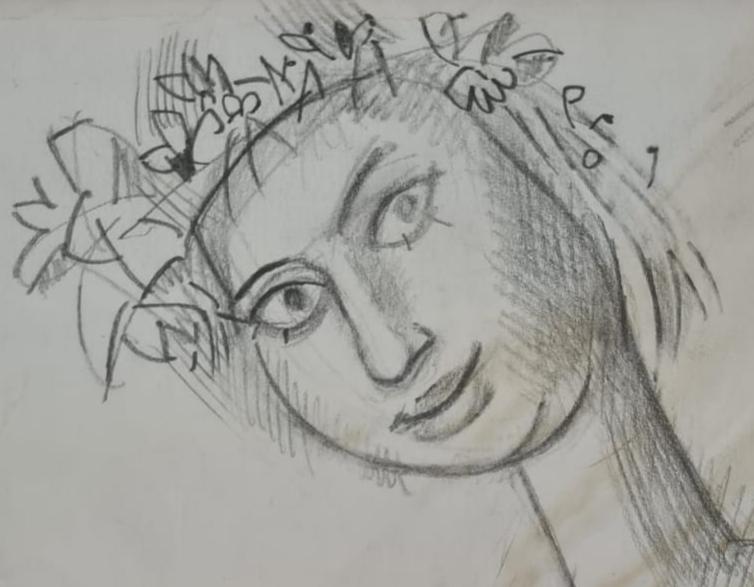 рисунок портрет Мария Горелик