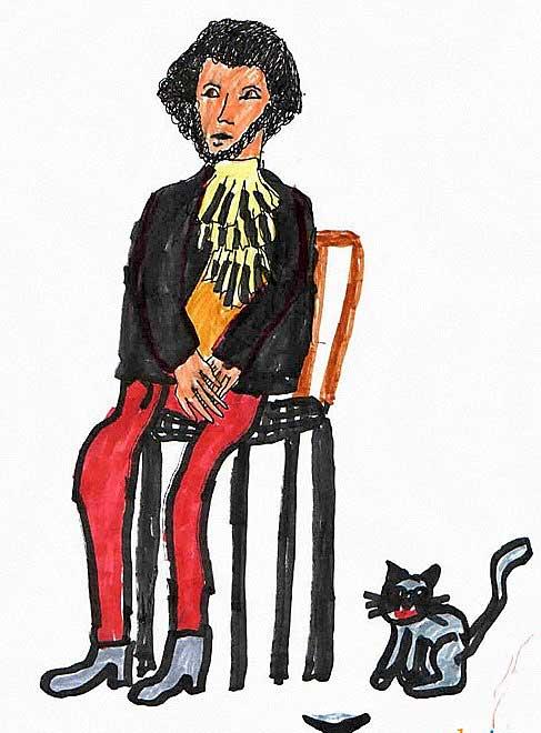 Пушкин. Рисунок. Марина, 8 лет