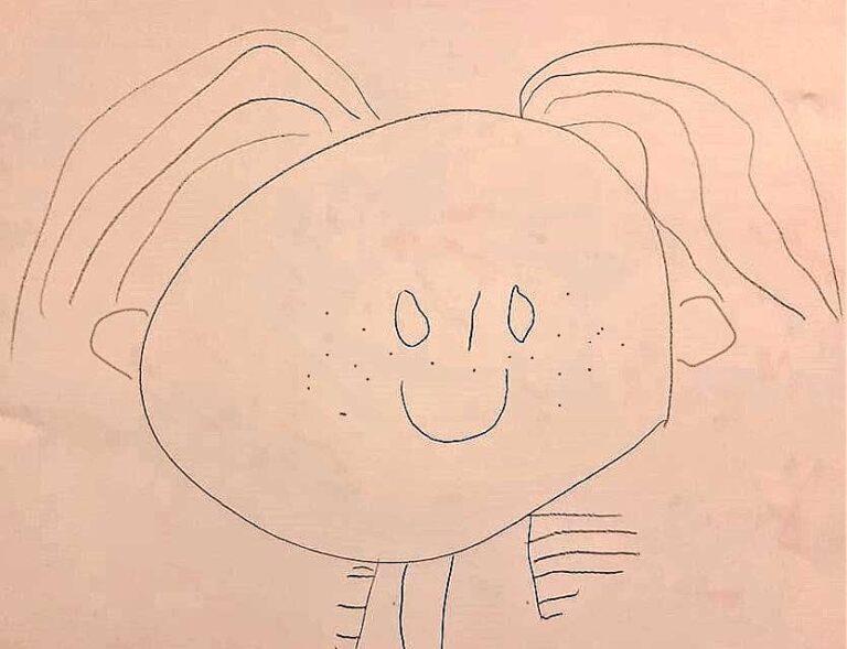рисунок девочки, Оделия, 3.5 года
