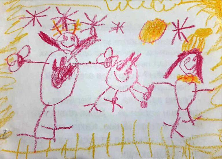 Рисунок. Семья, Диана, 6 лет