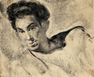 живописный портрет - Горелик - автор -Н. Гущин