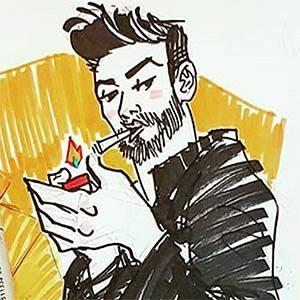 автопортрет рисунок Бард Байтман