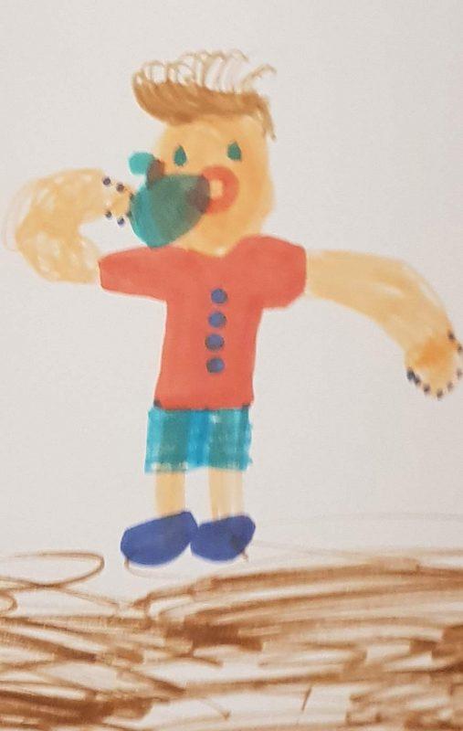 Рисунок.Яблоко. Ума, 7 лет