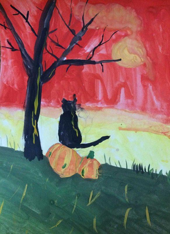 Черный котик. Женя, 8 лет