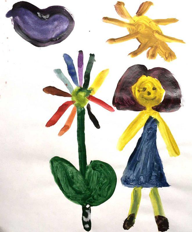 Рисунок. Амалия, 8 лет